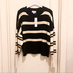 Top Shop Striped Wool Blend Sweater